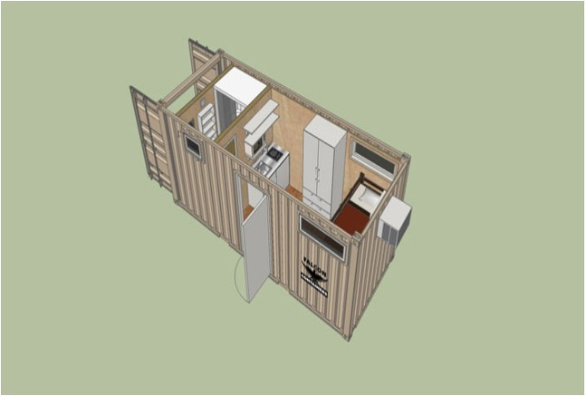 40 ft two story container homes plans