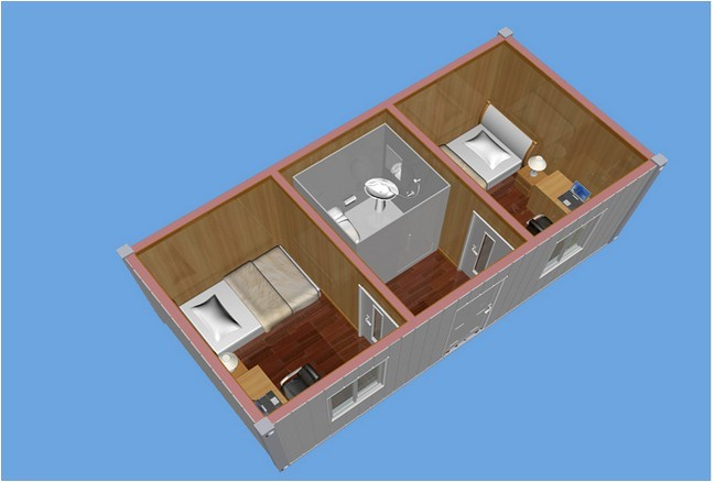 40ft container house plans