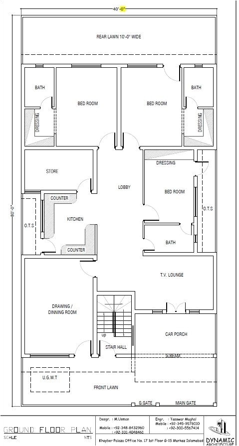 40×80 House Plan House Plans Draw and House On Pinterest