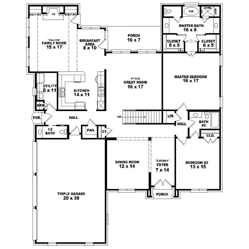 4 bedroom 3 5 bath house plans