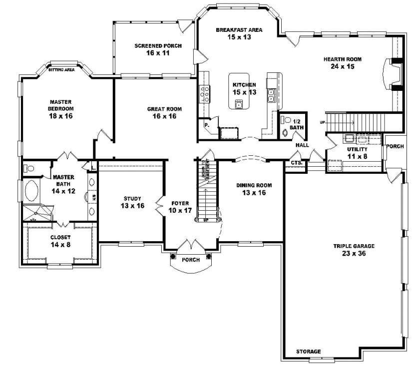 5 bedroom 3 bath house plans unique one story 5 bedroom house floor plans pinterest house plans 3
