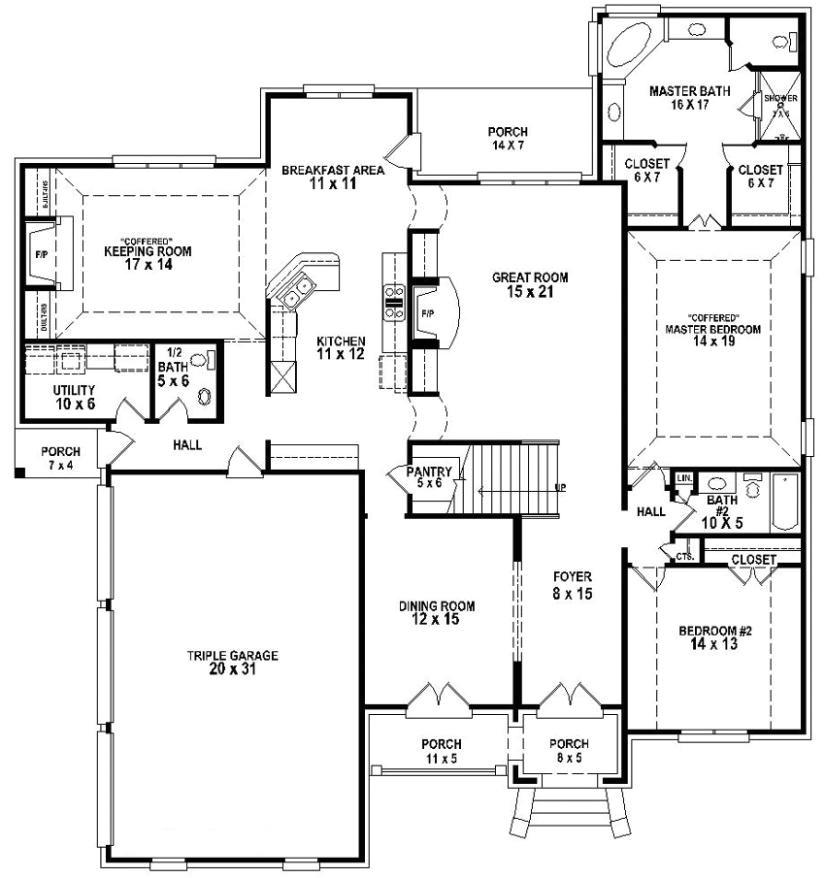 654257 great looking 4 bedroom 3 5 bath house plan