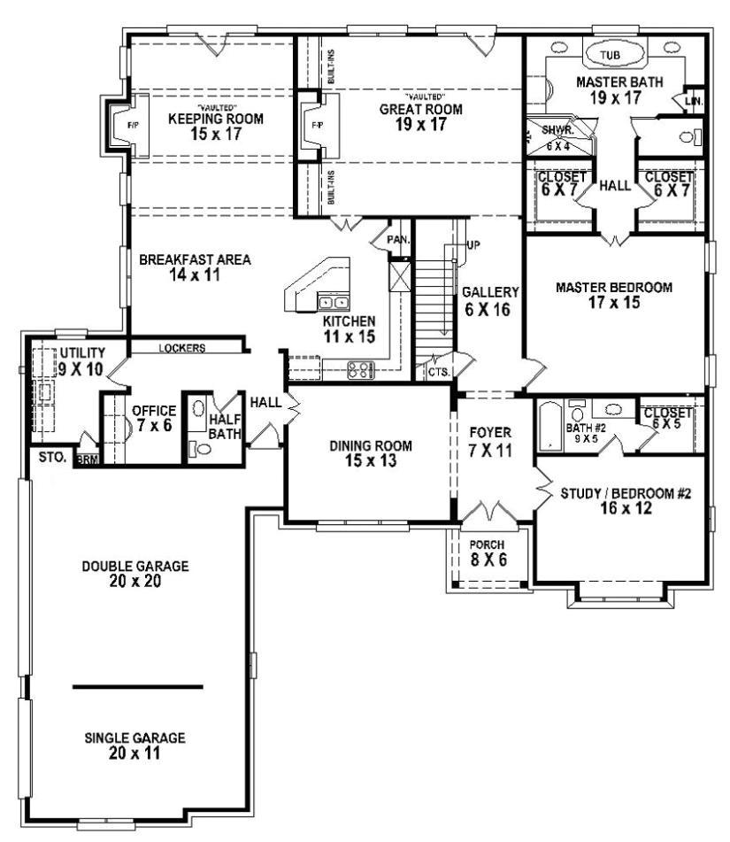 654263 5 bedroom 4 5 bath house plan
