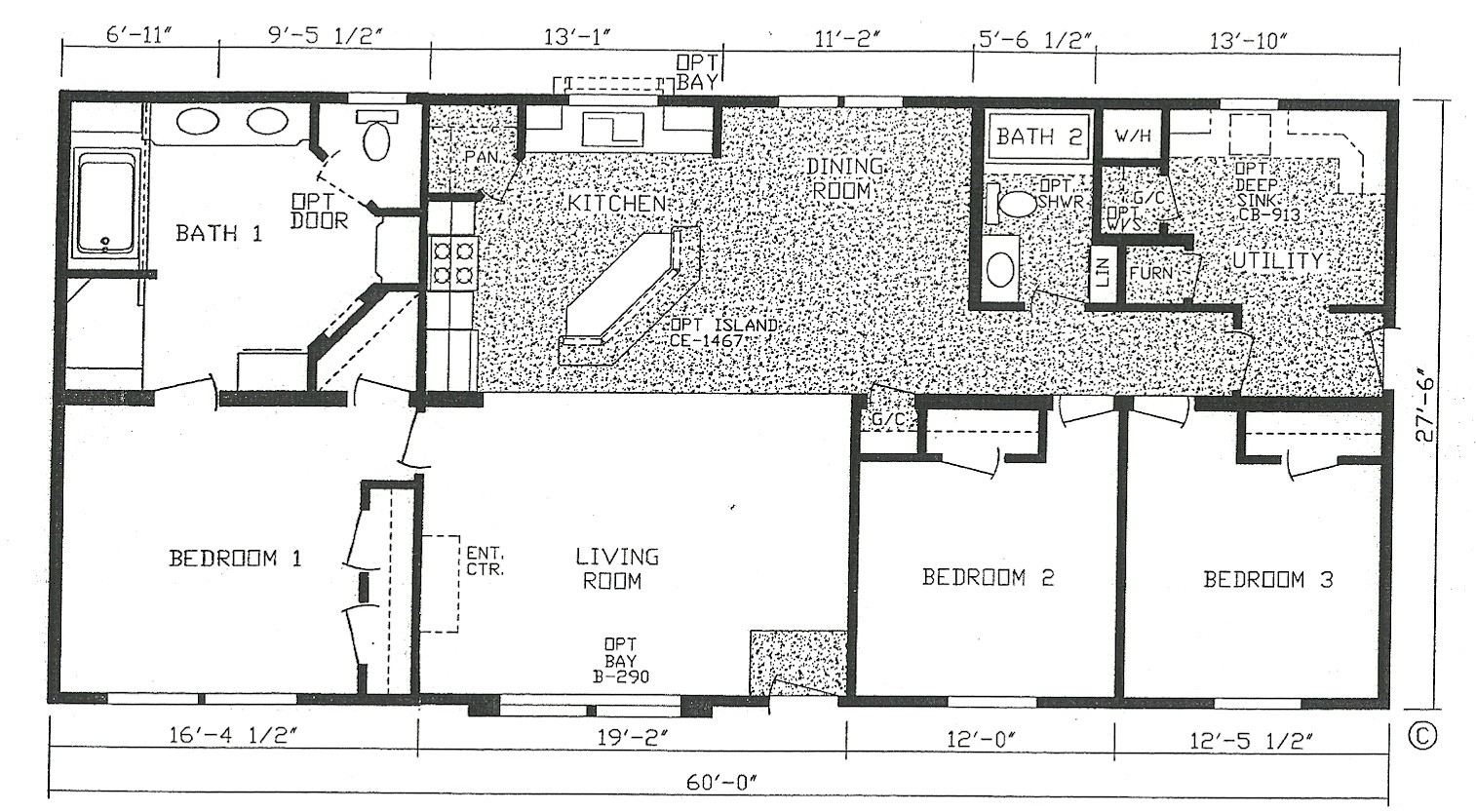 3 bedroom modular home floor plans