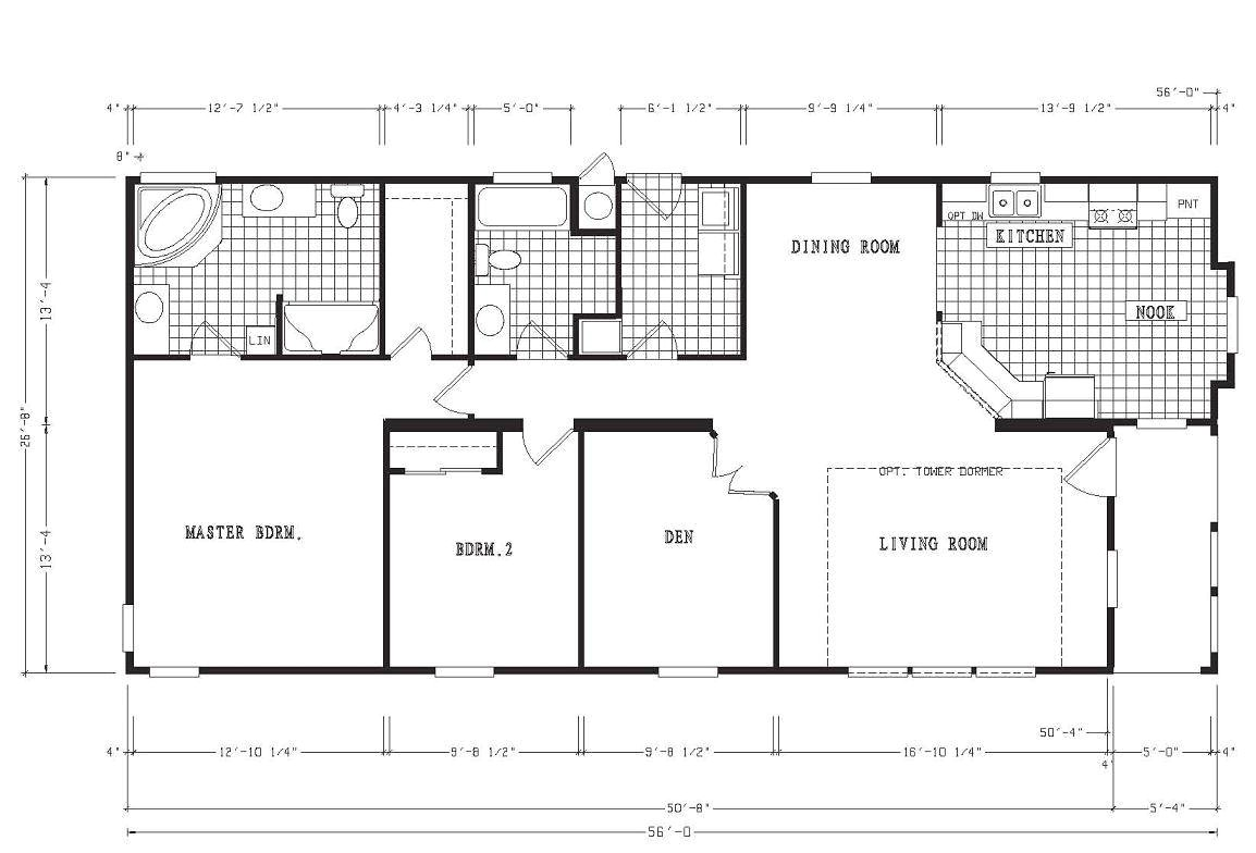 4 bedroom 3 5 bath mobile home floor plans