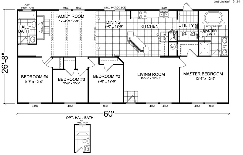 4 bedroom 3 bathroom mobile home floor plans