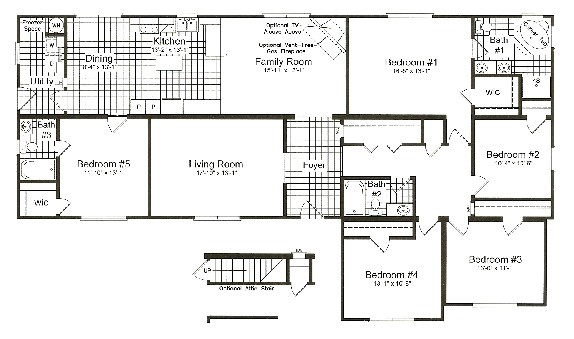 5 Bedroom 3 Bath Mobile Home Floor Plans 5 Bedroom Prefabricated Homes Homes Floor Plans