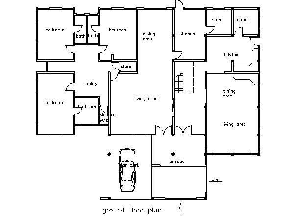 5 bedroom house plans in ghana