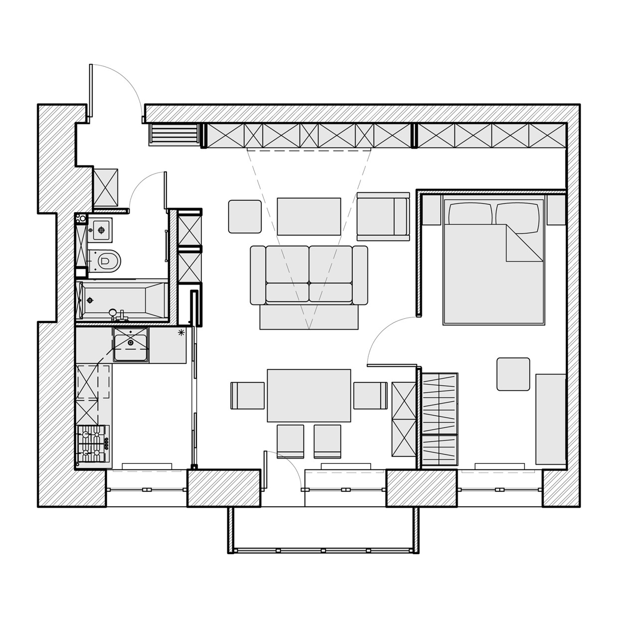 3 beautiful homes under 500 square feet floor plans included