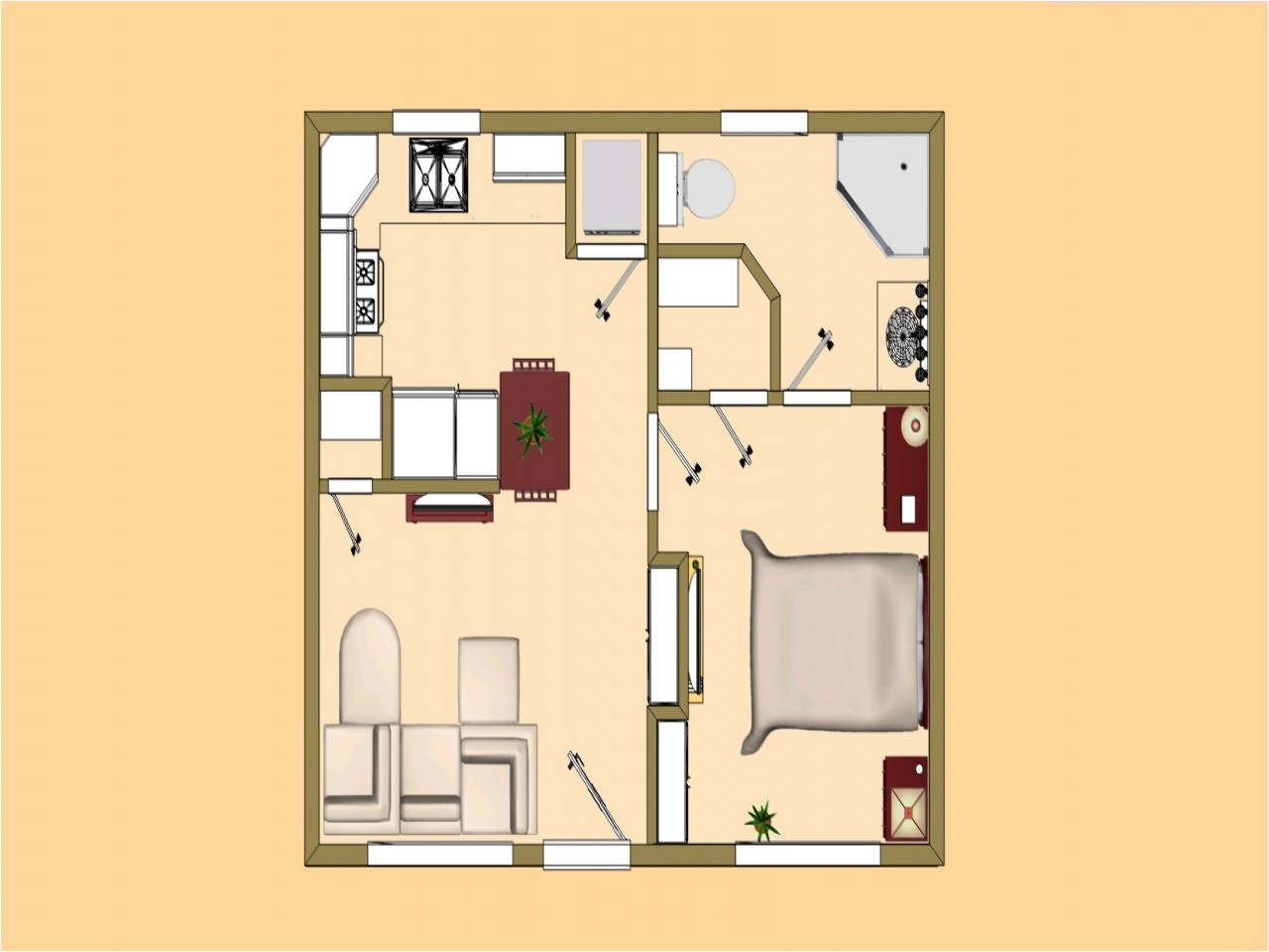 500 square foot house plans