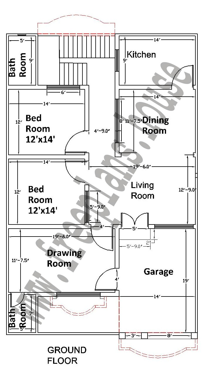 35x55 feet 178 square meters house plan 2