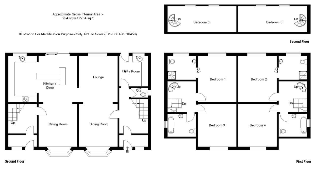 6 bedroom house plans with ground floor first floor and second floor design