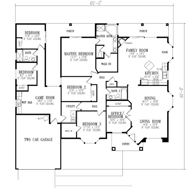 2511 square feet 6 bedrooms 3 bathroom southwest contemporary plans 2 garage 15640