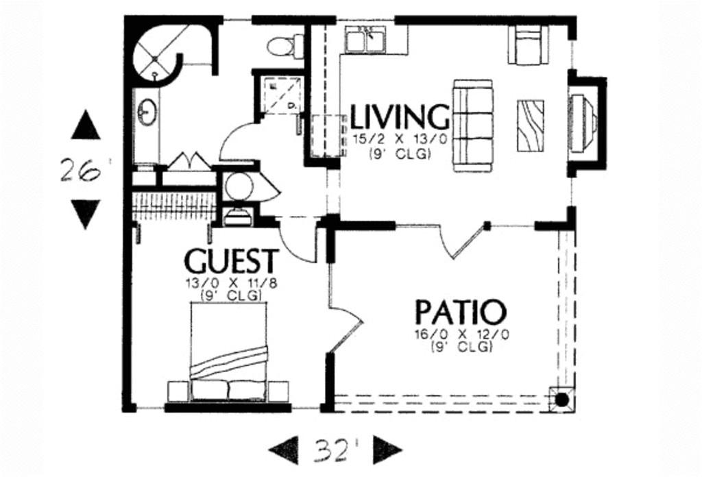 600 square feet 1 bedrooms 1 bathroom southwest contemporary plans 0 garage 13068