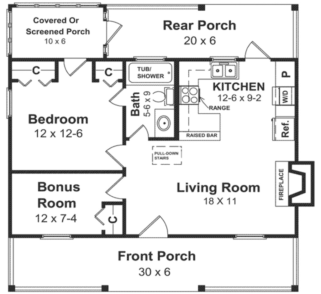 cabins under 600 square feet