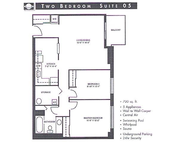 700 square feet floor plans