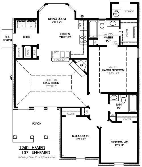 700 square feet 2 bedroom house plans