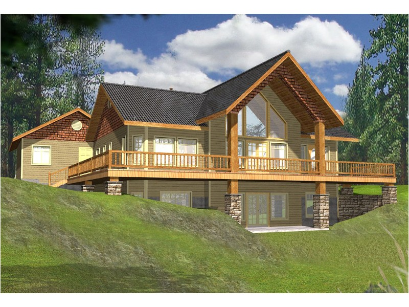 A Frame Lake House Plans Golden Lake Rustic A Frame Home Plan 088d 0141 House