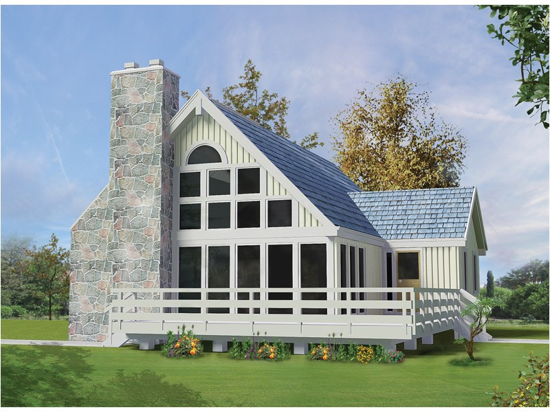 a frame lake house plans