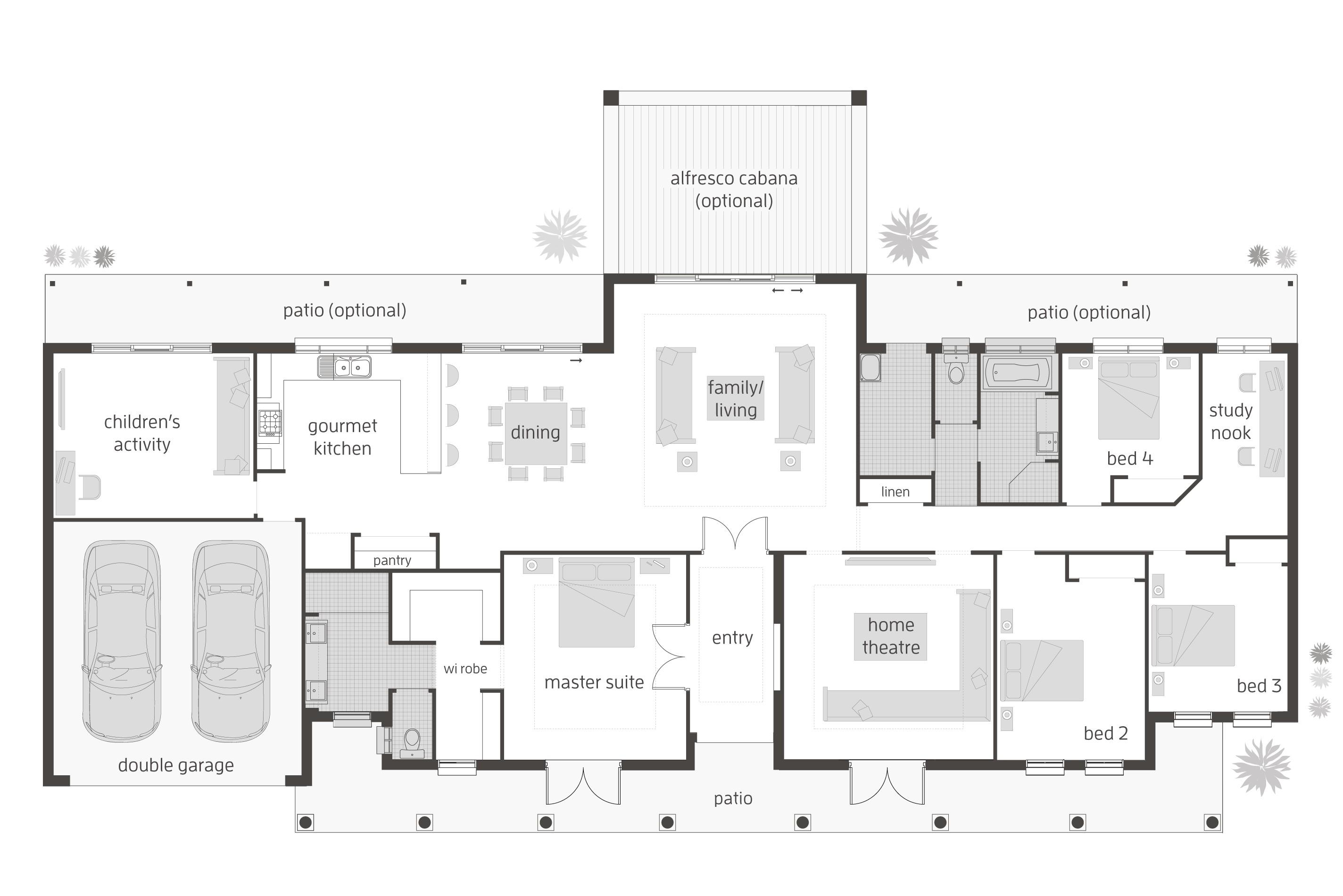 floor plan friday 4 bedroom childrens activity room