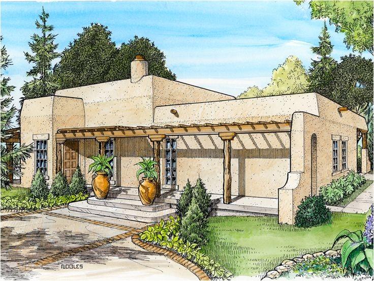 Adobe Home Plans Adobe House Plans Small southwestern Adobe Home Plan