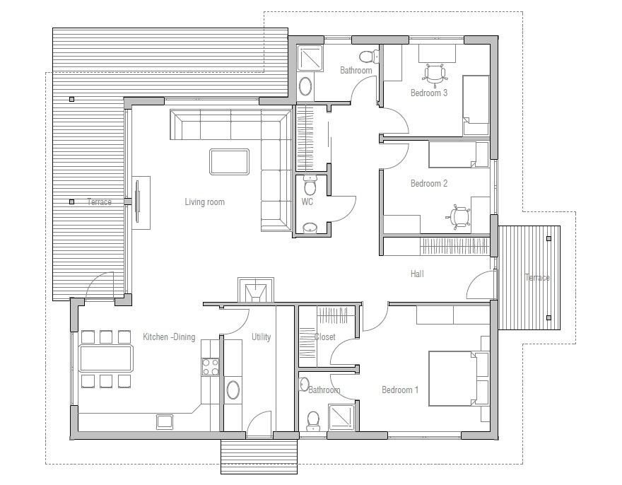 affordable home plan ch121