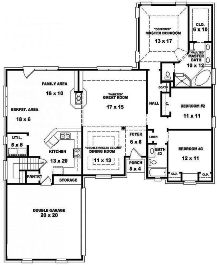 2 bedroom house floor plans free