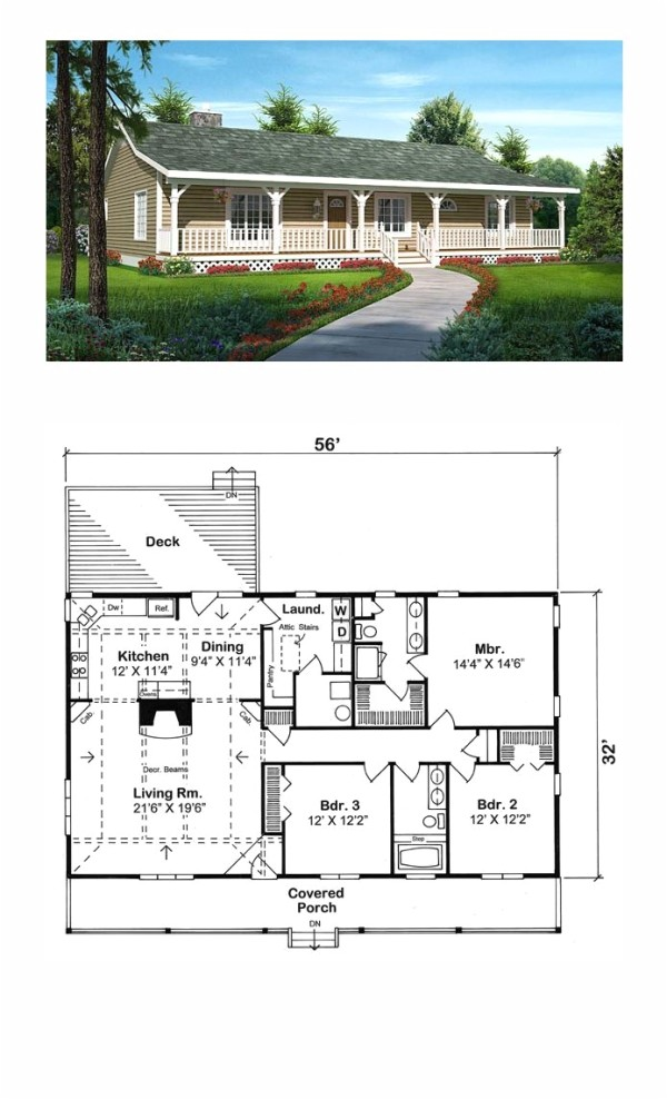 Amazing House Plans with Pictures Ranch Style Cool House Plan Id Chp 47591 total Living