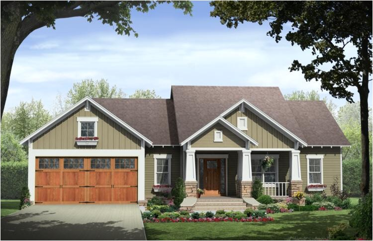 craftsman style house plan with character