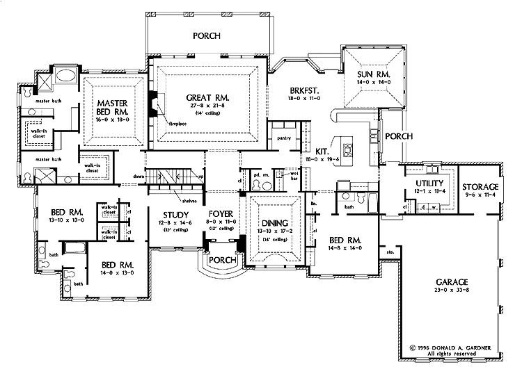 American Home Plans Design American House Plans Smalltowndjs Com