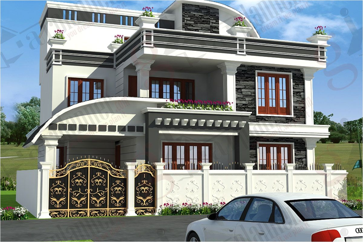 Delightful Arch Design Indian Home Plans Independent House Elevation Designs In India  House