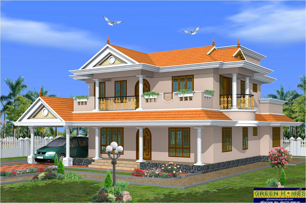 Architect Designed Home Plans Green Homes Beautiful 2 Storey House Design 2490 Sq Feet