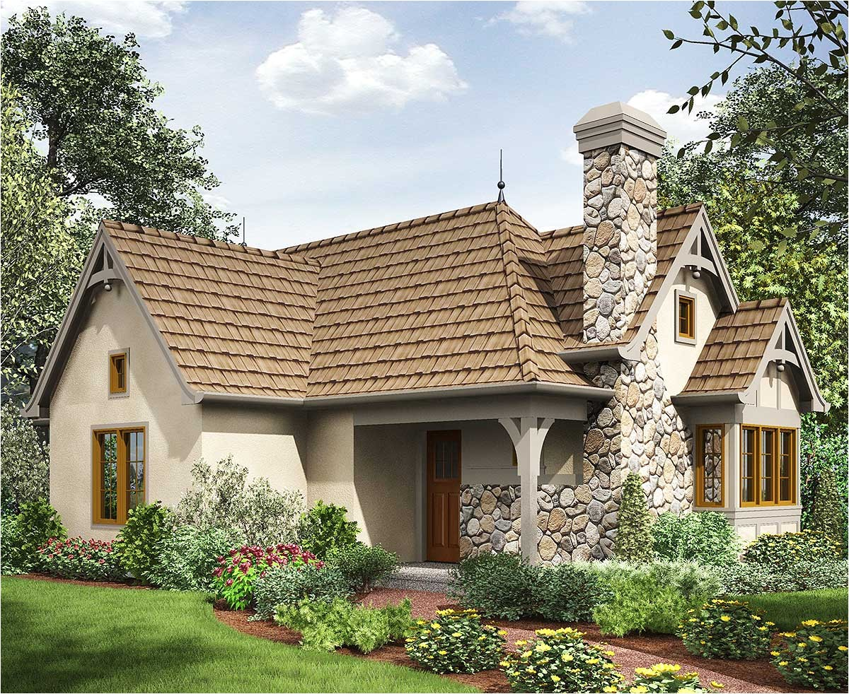 2 bed tiny cottage house plan 69593am