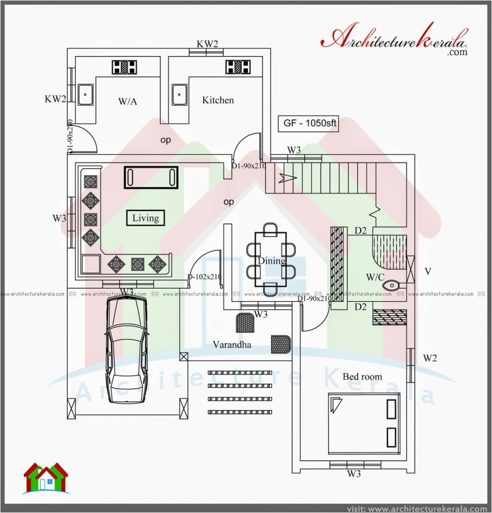 Architectural Home Plans Online Simple Three Bedroom House Architectural Designs