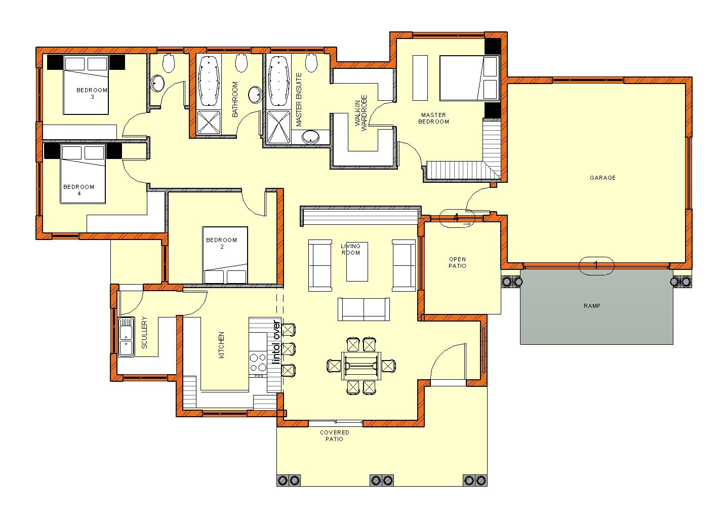 4 bedroom house plans pdf in south africa
