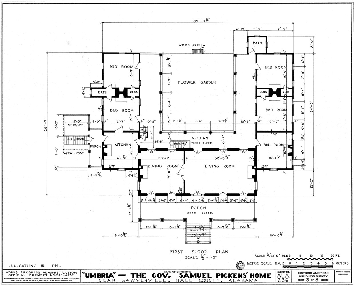 architectural drawings with dimensions