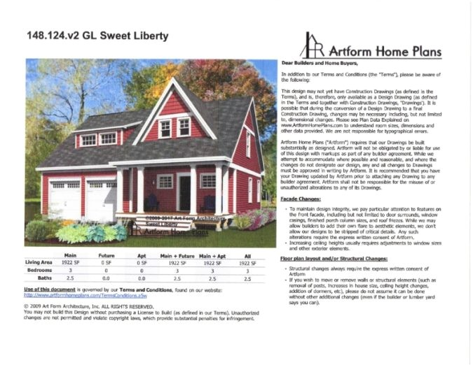 artform home plans sweetliberty 2