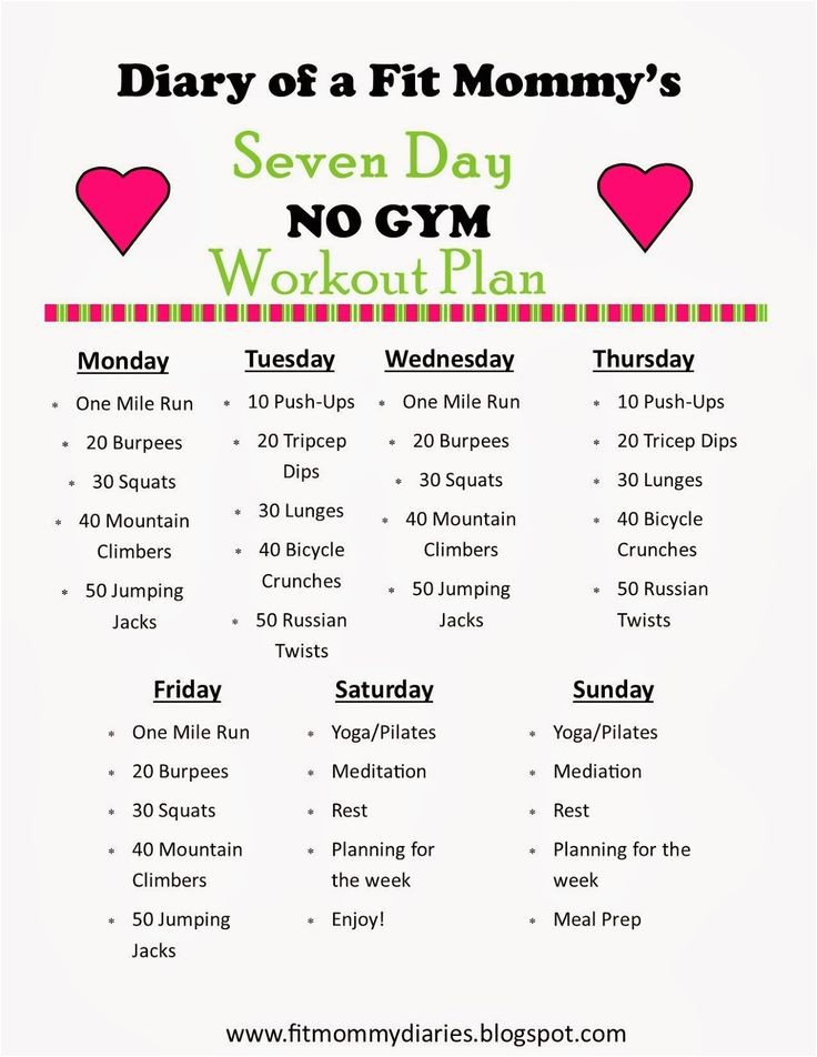 7 day workout plan