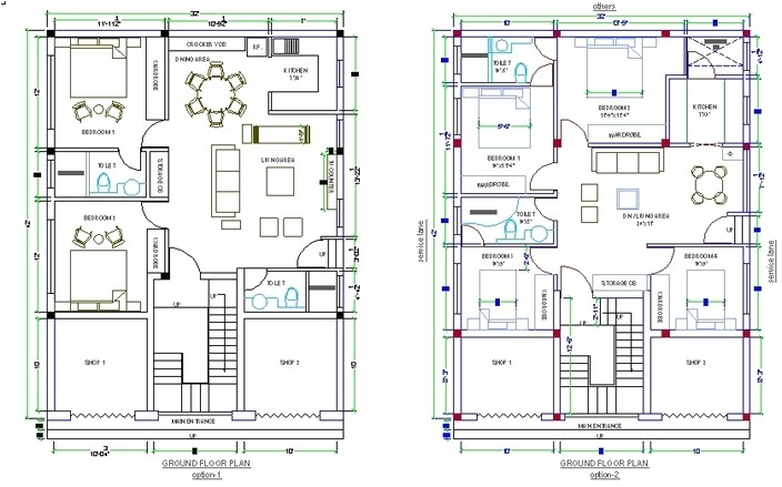 house plan in autocad drawing bibliocad with cad drawing house plans