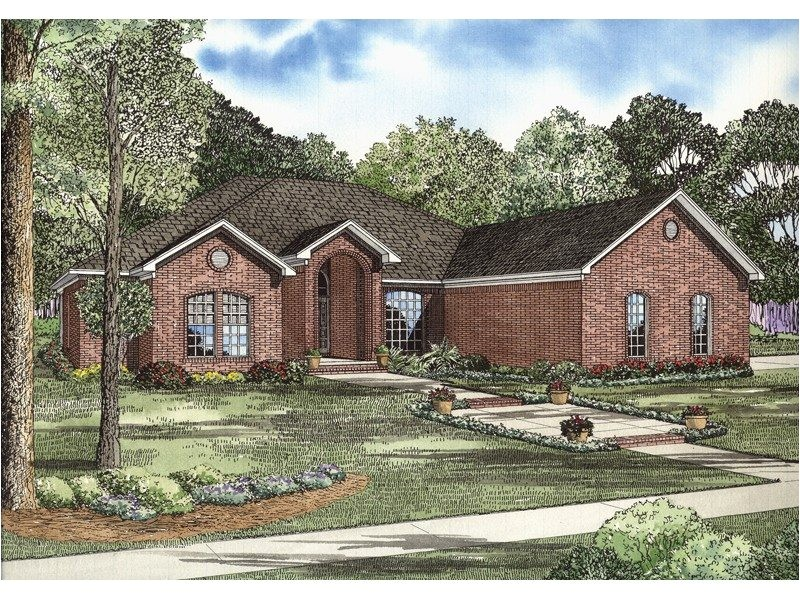 brick ranch house plans awesome gilbert brick ranch home plan 055d 0739
