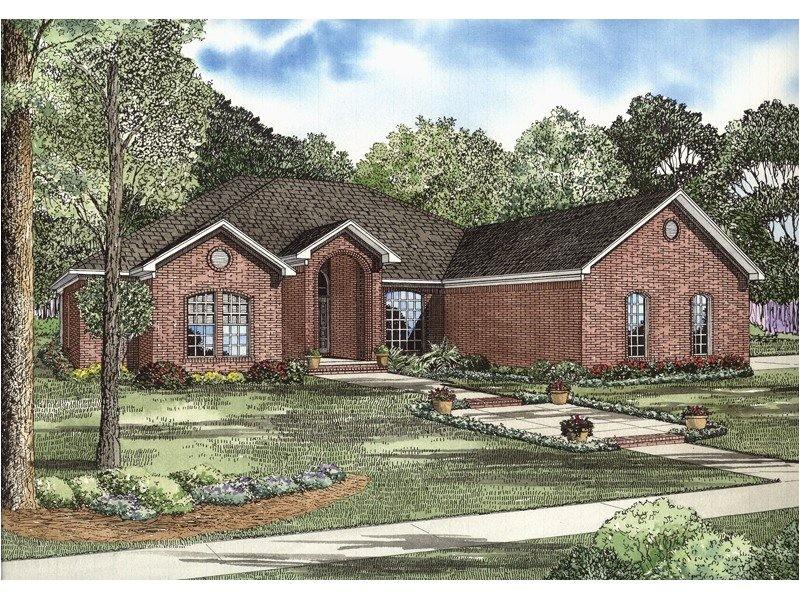 brick ranch house plans awesome gilbert brick ranch home plan 055d 0739