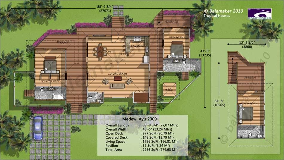 bali house plans tropical living
