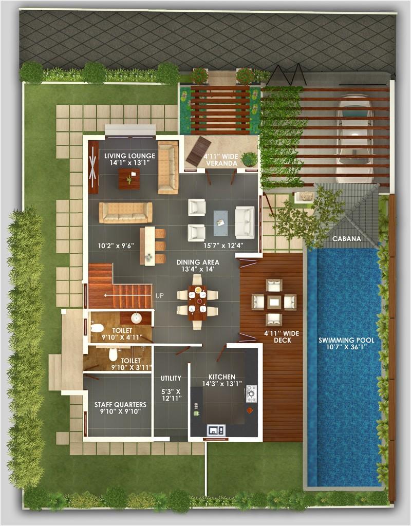 bali villas floor plans