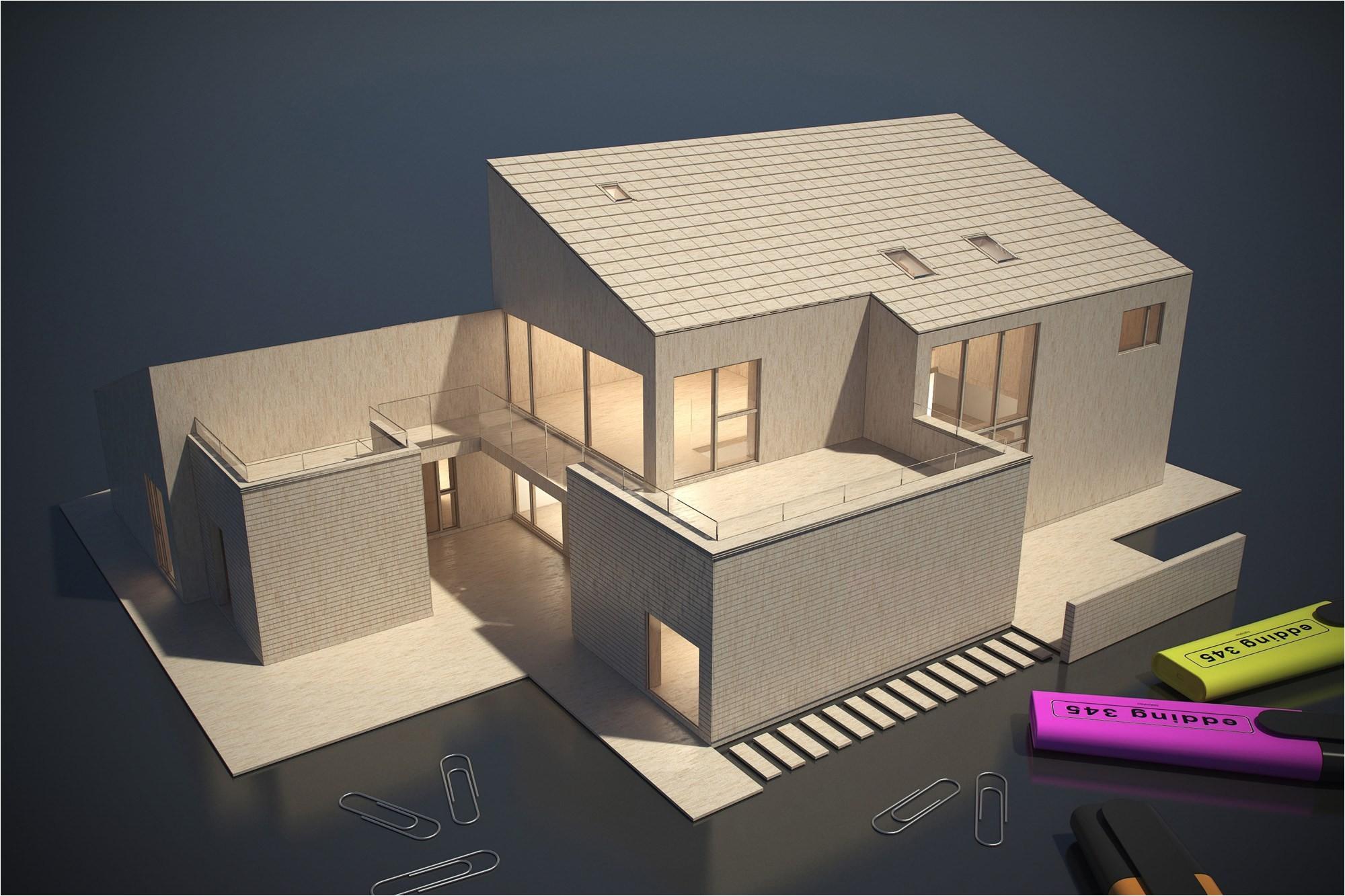balsa wood house model kits