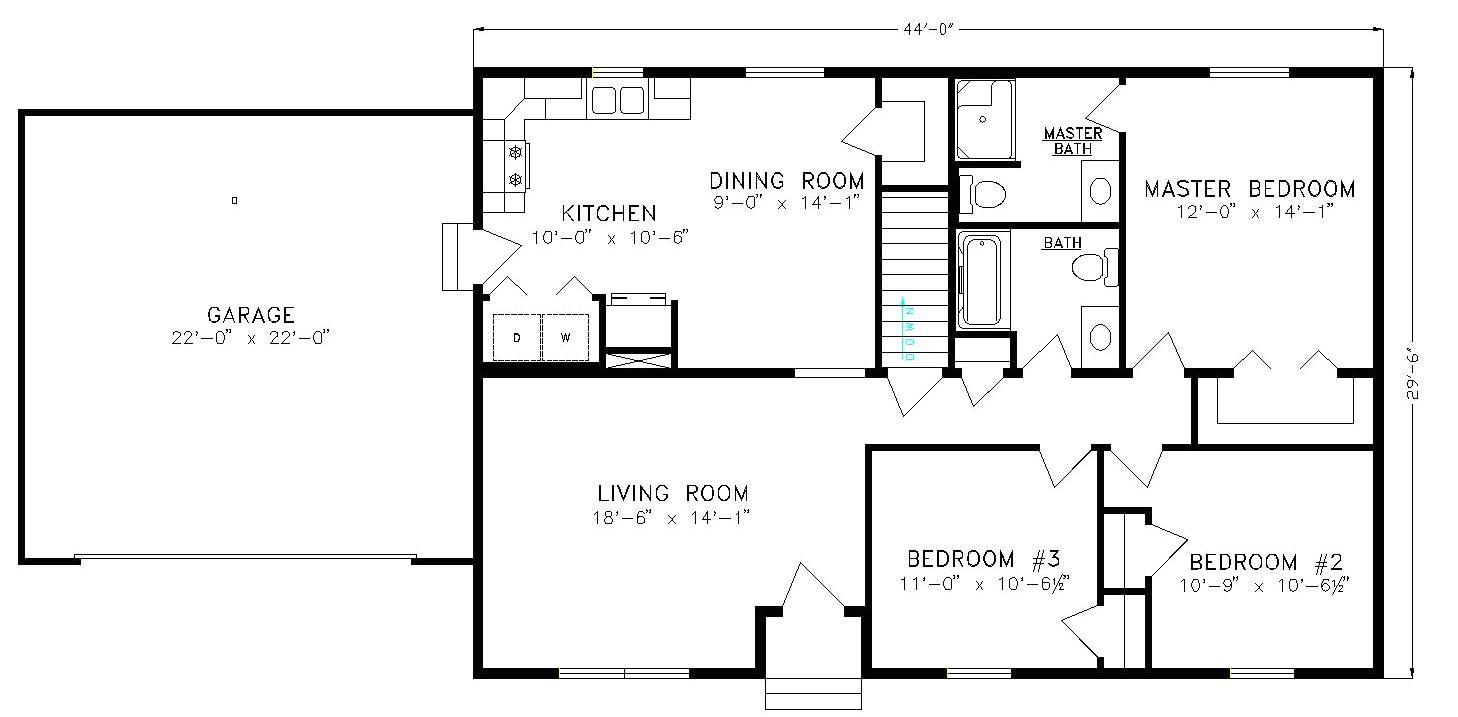 simple ranch floor plans
