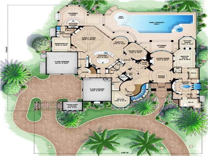 beach house floor plans design with garden