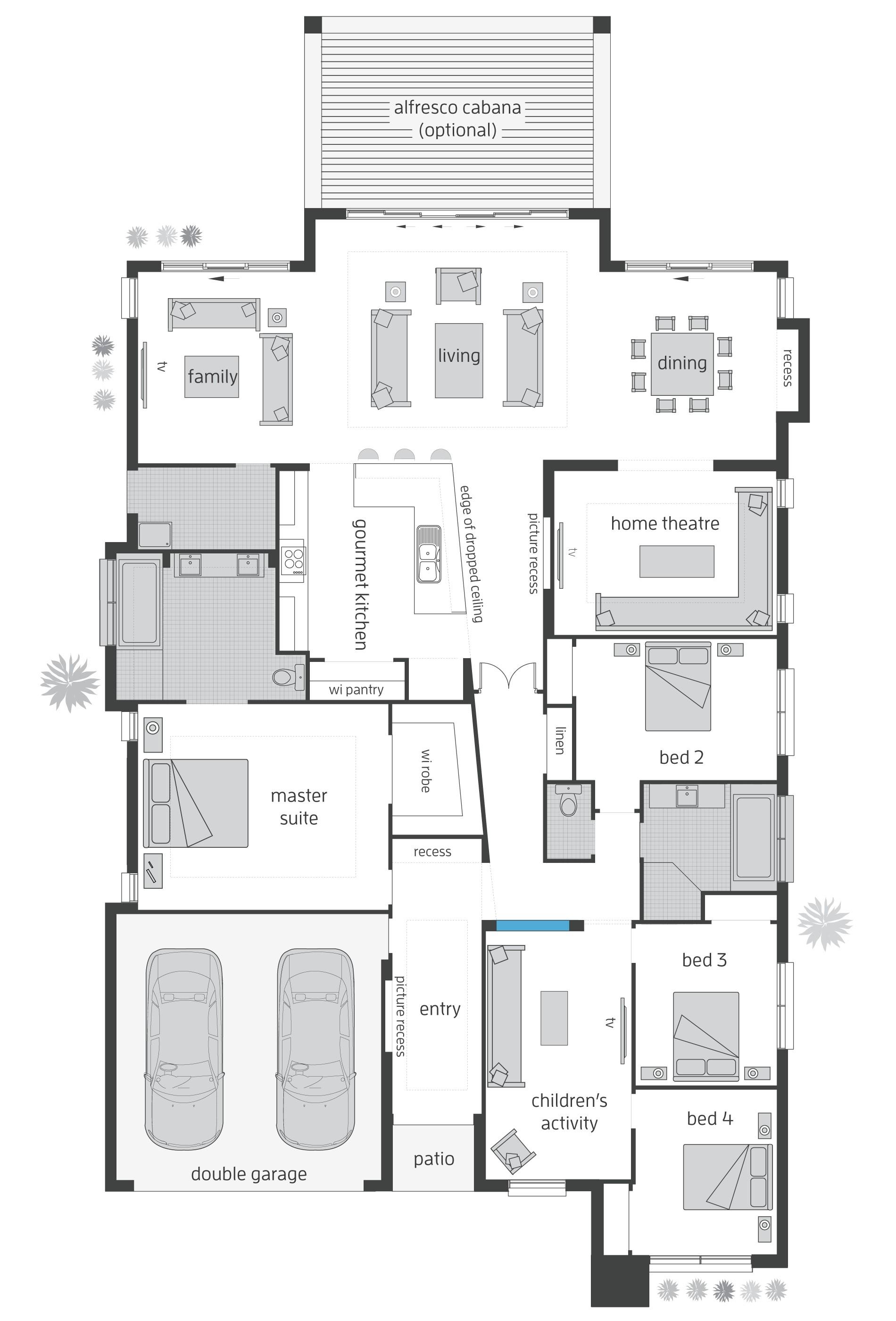 Beach Home Floor Plans Beach House Floorplans Mcdonald Jones Homes