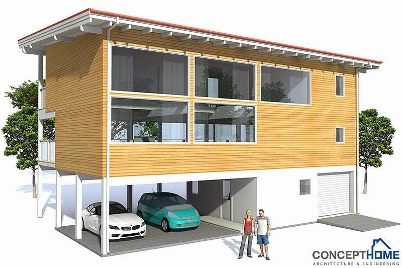 ch98 raised beach house plan