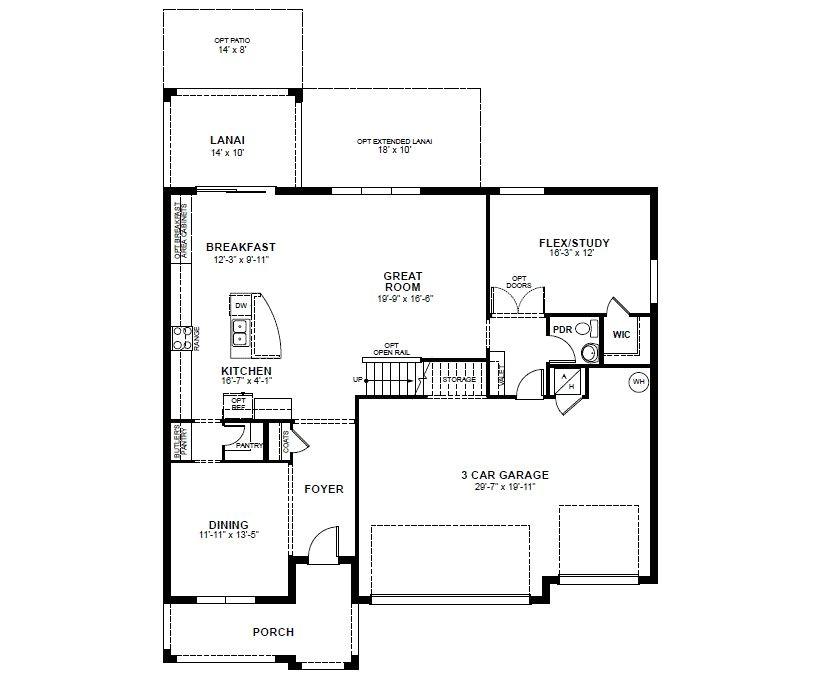 beazer single story floor plans