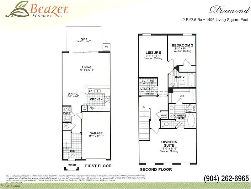 beazer floor plans